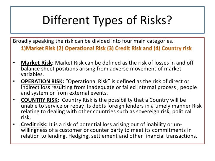 the different types of country risk Country risk country risk analysis renato donatello ribeiro donatello@originetcombr   customers (residents in different countries) the possibility of a non.
