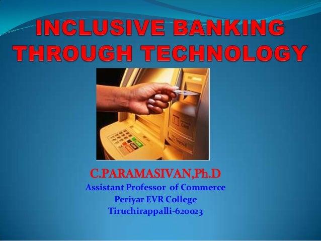 C.PARAMASIVAN,Ph.D Assistant Professor of Commerce Periyar EVR College Tiruchirappalli-620023