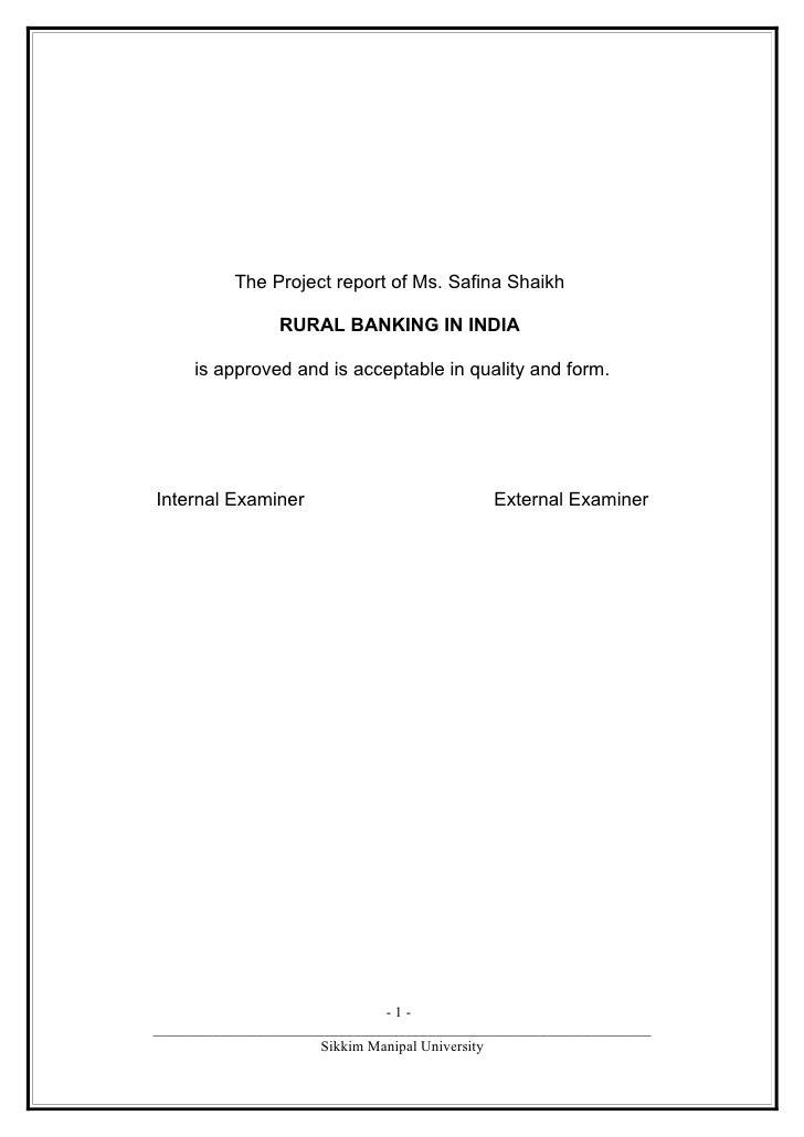 Banking rural banking
