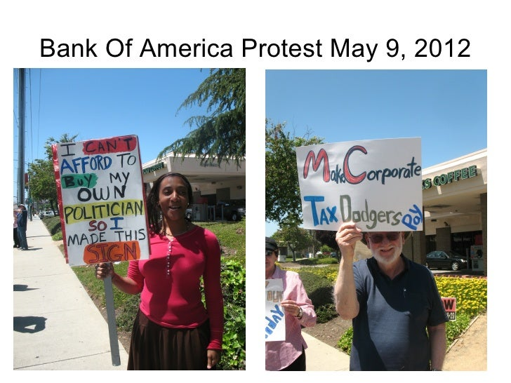 Bank Of America Protest May 9, 2012