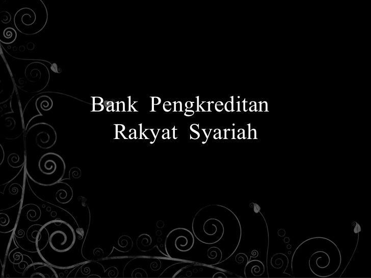 Bank pengkreditan rakyat syariah
