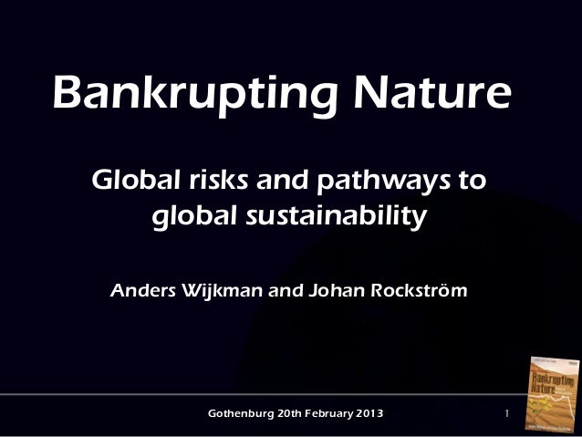 Bankrupting Nature Global risks and pathways to     global sustainability  Anders Wijkman and Johan Rockström           Go...