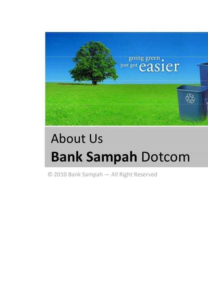 Bank sampah   pengelolaan sampah
