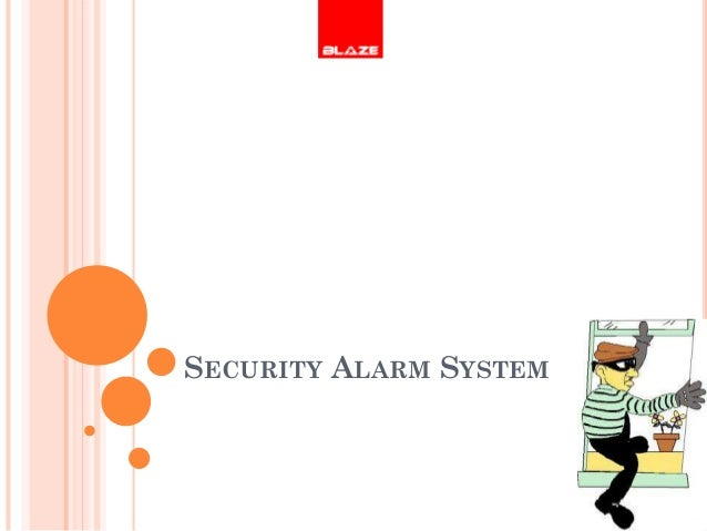 Bank security alarm system blaze automation