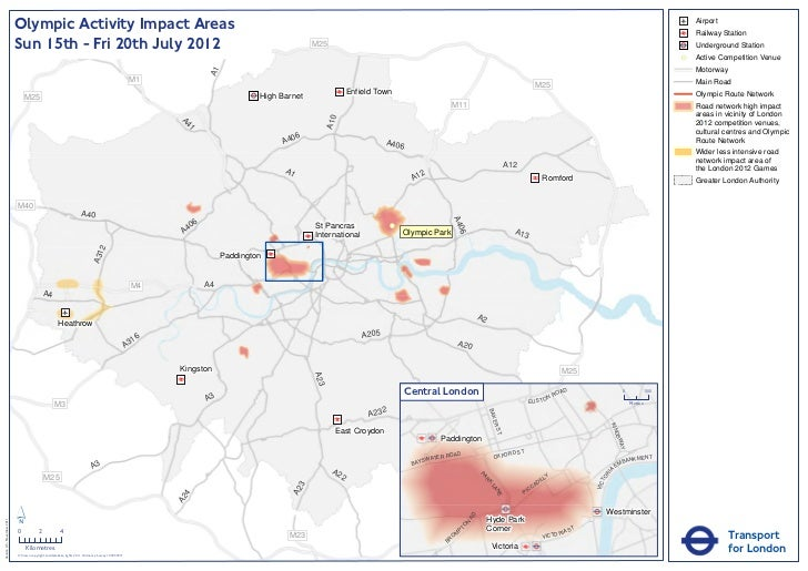 Olympic Activity Impact Area (TfL)