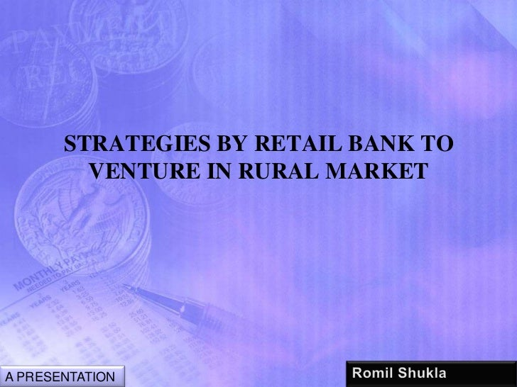 Banks in rural sector