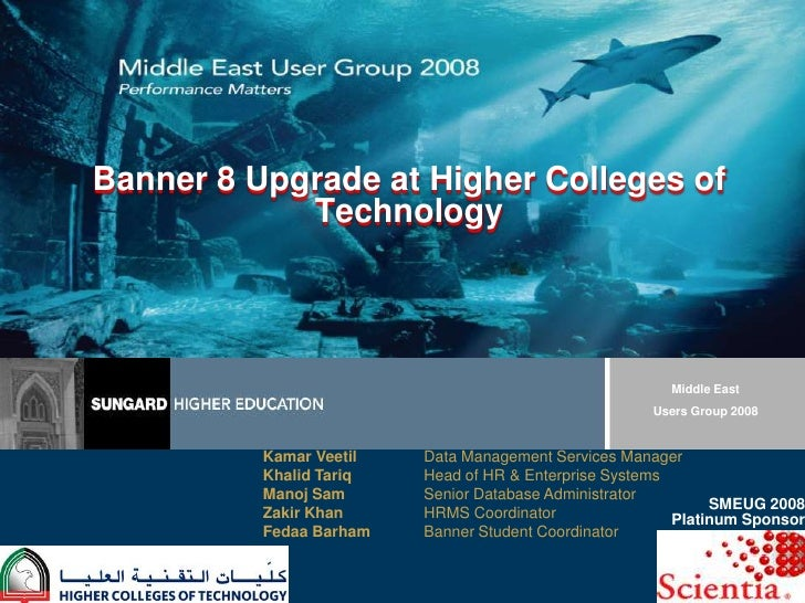 Banner 8 Upgrade at Higher Colleges of Technology