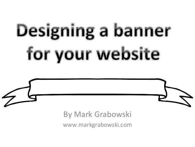 Designing a banner for blogs & websites