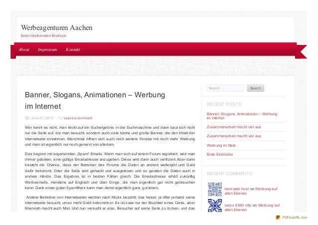 Banner, Slogans, Animationen – Werbung im Internet June 27, 2013 Leave a comment Wer kennt es nicht, man klickt auf ein Su...