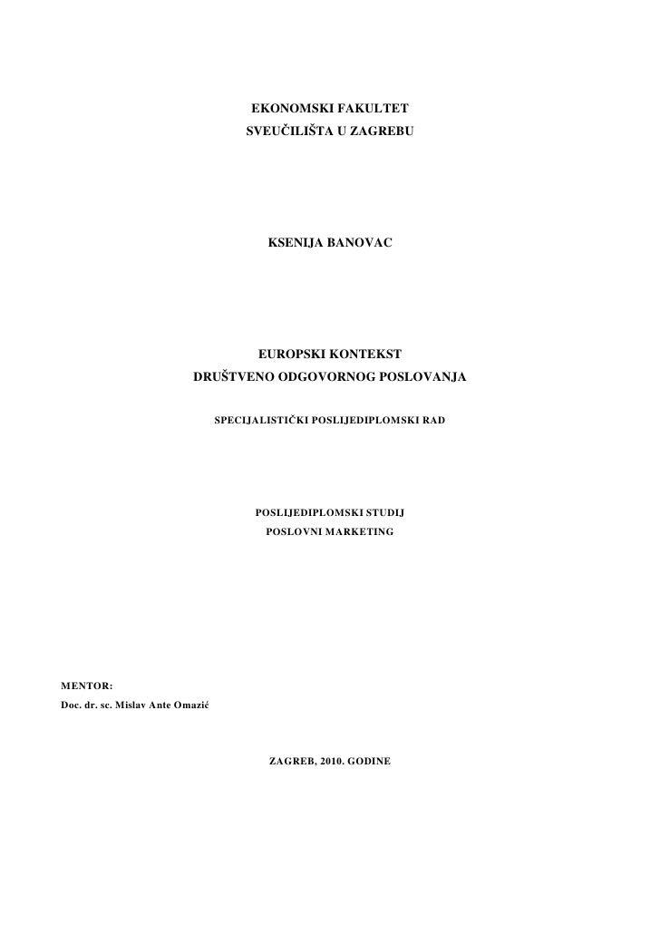 Europski kontekst DOP-a