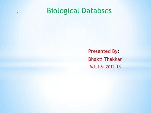 biological detabase
