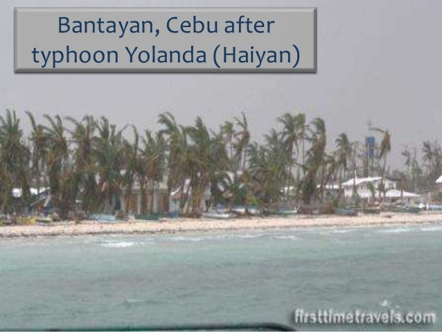 Bantayan, Cebu after typhoon Yolanda (Haiyan)
