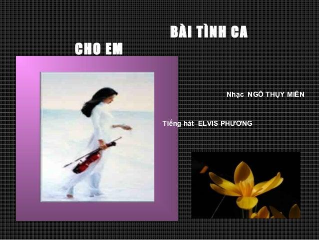 Ban tinh ca cho em-Phạm thành Tri