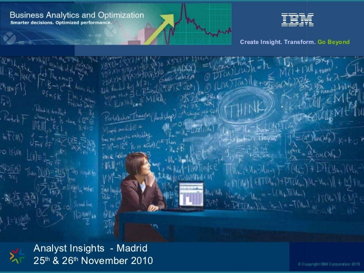 Analyst Insights  - Madrid  25 th  & 26 th  November 2010