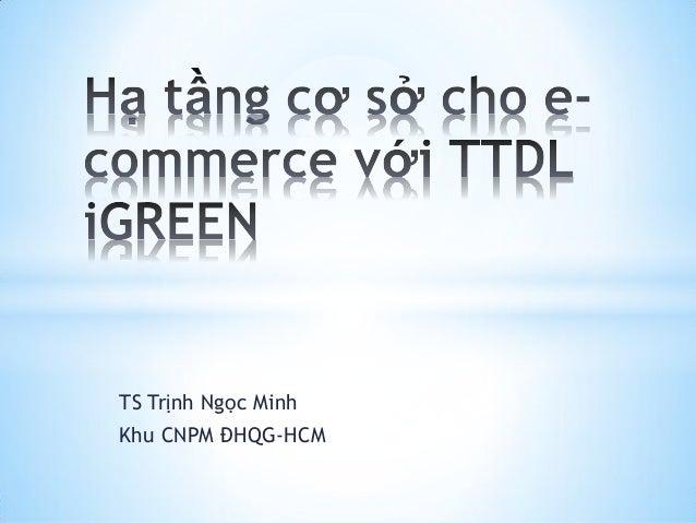 TS Trịnh Ngọc Minh Khu CNPM ĐHQG-HCM