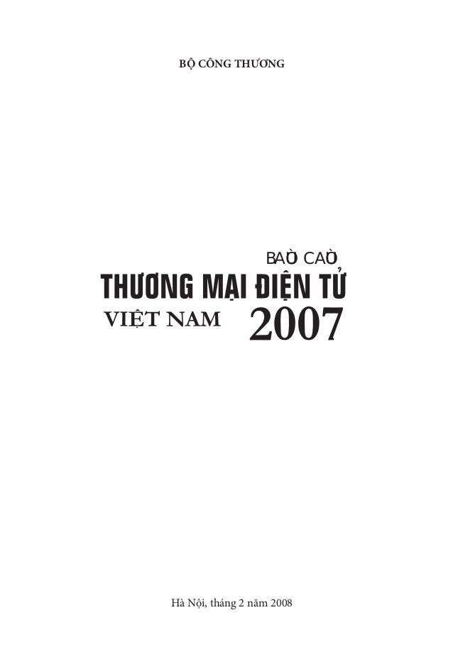 Báo cáo thương mại điện tử 2007