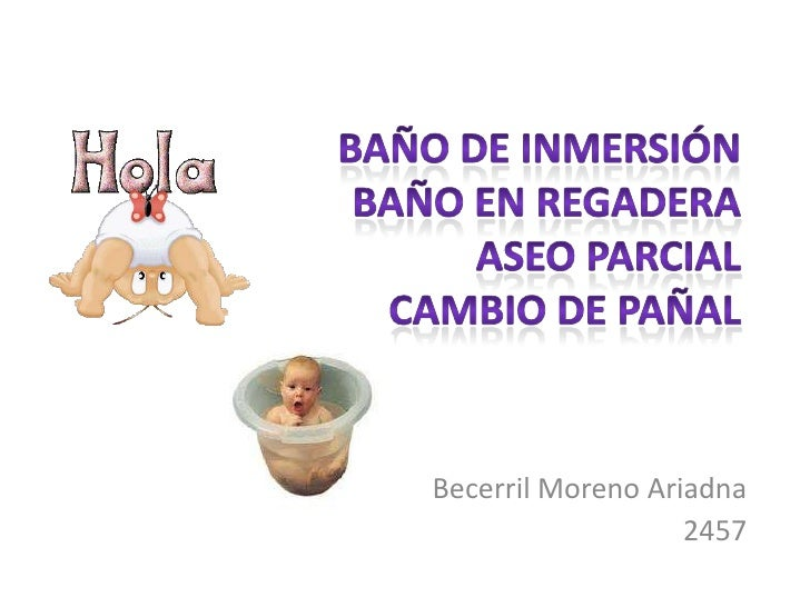 Baño De Regadera Pediatrico:Baño de inmersion