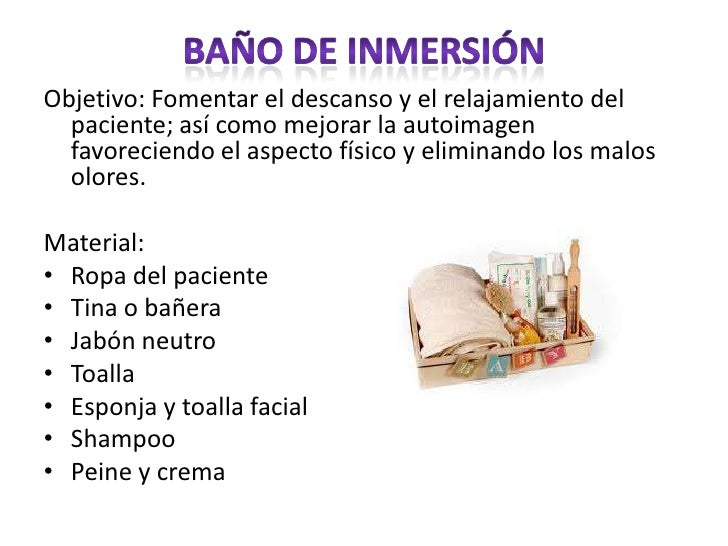 Baño En Tina Del Paciente:No hay notas en la diapositiva
