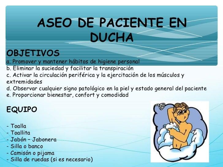 Baño General En Cama Del Paciente:aseo de paciente en duchaobjetivosa ...