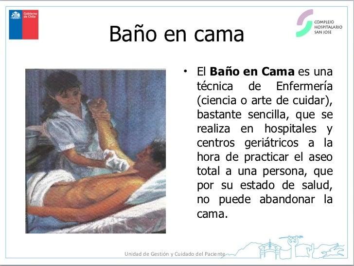 Baño General Del Paciente Encamado:Baño en cama