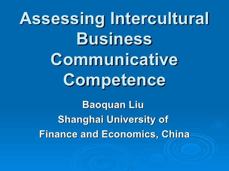 Assessing Intercultural Business Communicative Competence