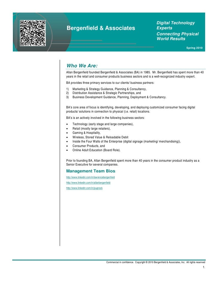 Digital TechnologyBergenfield & Associates                                                              Experts           ...