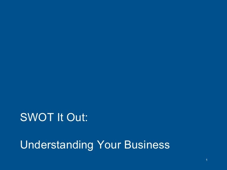 SWOT It Out:  Understanding Your Business