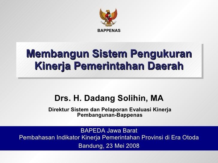 Membangun Sistem Pengukuran Kinerja Pemerintahan Daerah