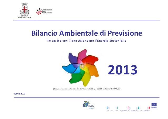 Bilancio Ambientale di Previsione 2013
