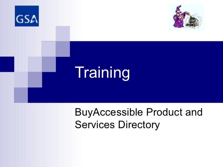 Training BuyAccessible Product and Services Directory