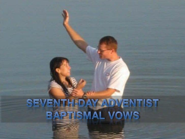 Seventh-day Adventist Baptismal Vows (Standard 13)