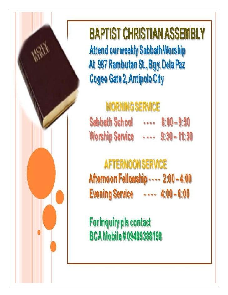 Baptist christian assembly