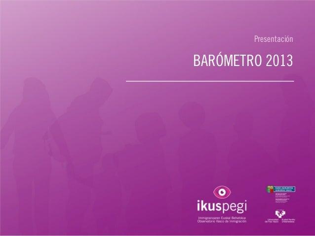 Presentación BARÓMETRO 2013