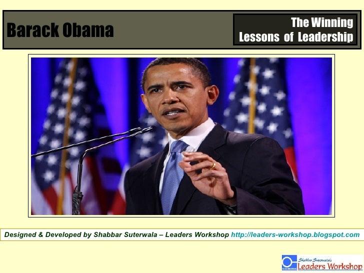 Barack Obama The Winning Lessons  of  Leadership