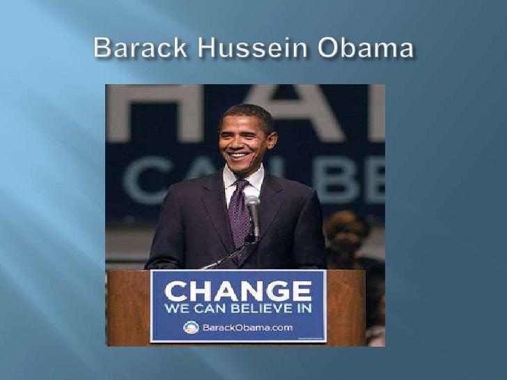 Barack Hussein Obama<br />
