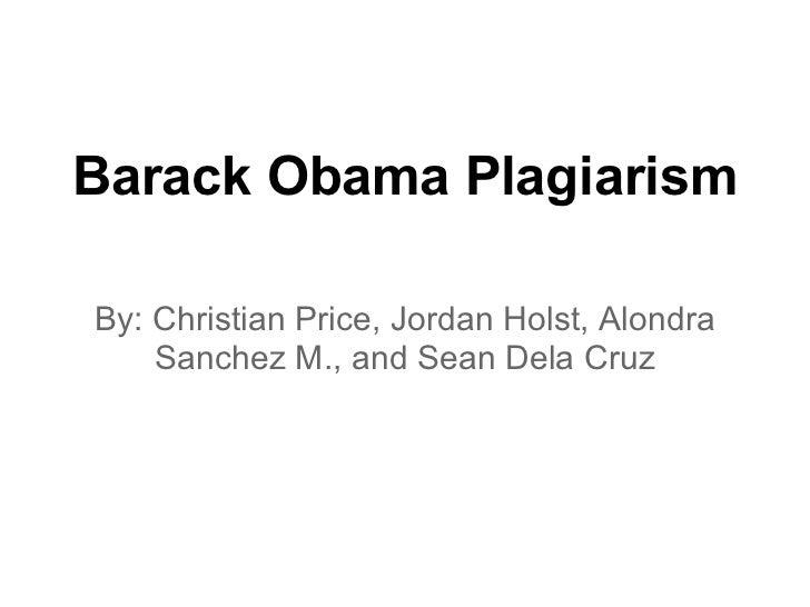 Barack obama plagiarism 6.7