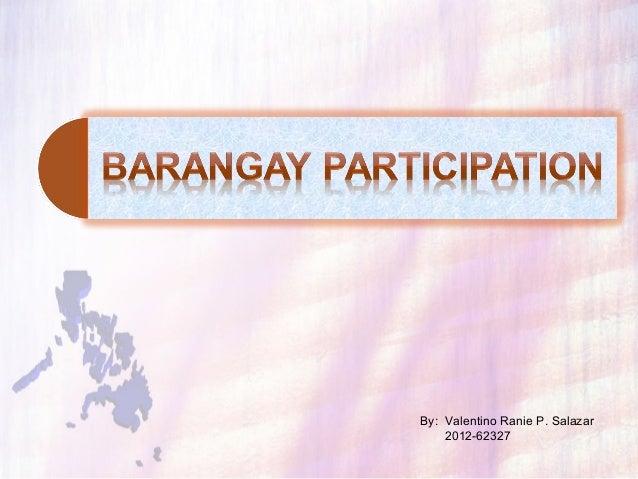 Barangay participation