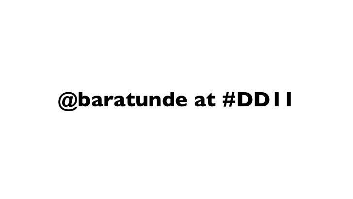 @baratunde at #DD11