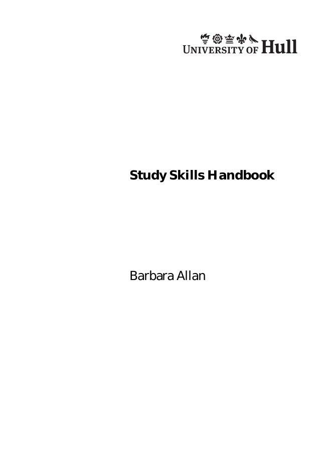 Study Skills Handbook  Barbara Allan