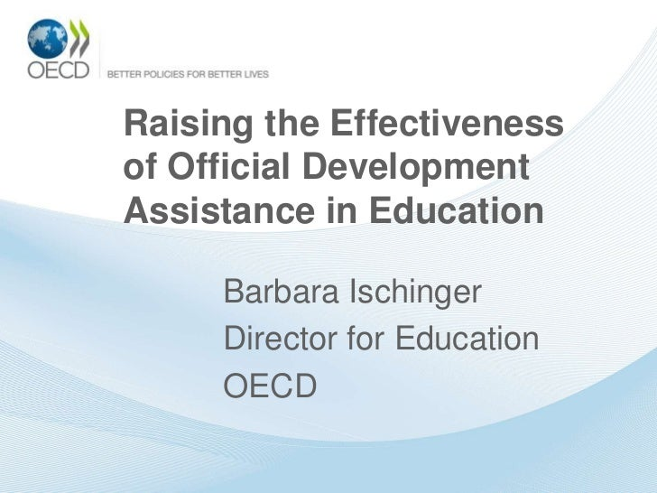 Raising the Effectiveness of Official Development Assistance in Education