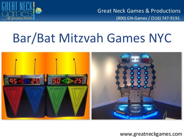 (800) GN-Games / (516) 747-9191www.greatneckgames.comGreat Neck Games & ProductionsBar/Bat Mitzvah Games NYC