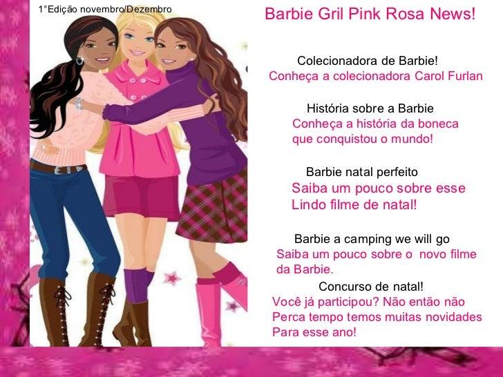 Barbie Gril Pink Rosa News! Barbie natal perfeito Saiba um pouco sobre esse Lindo filme de natal! História sobre a Barbie ...
