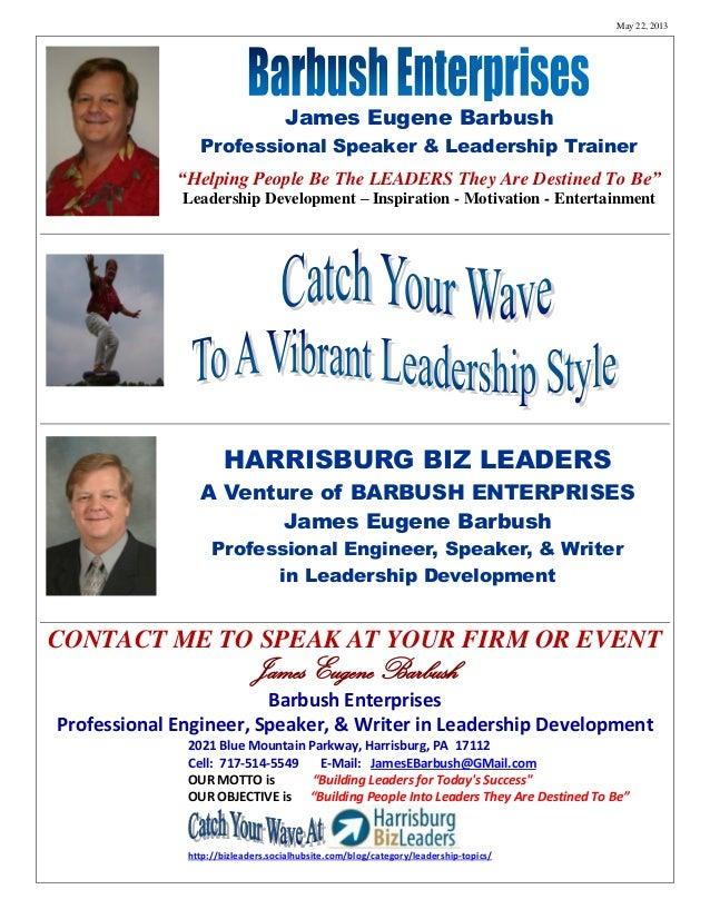 Barbush Enterprises   Leadership Development 2013 05 22