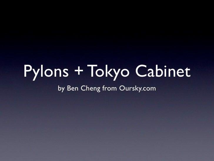 Pylons + Tokyo Cabinet
