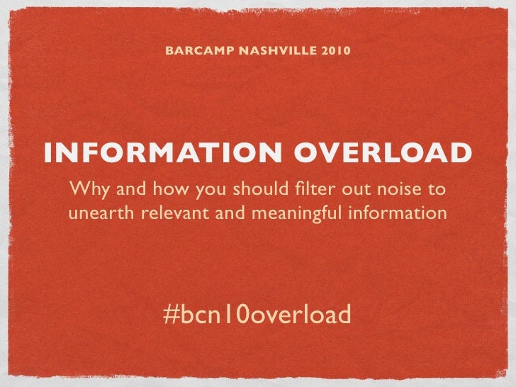 Information Overload: BarCamp Nashville (#bcn10)