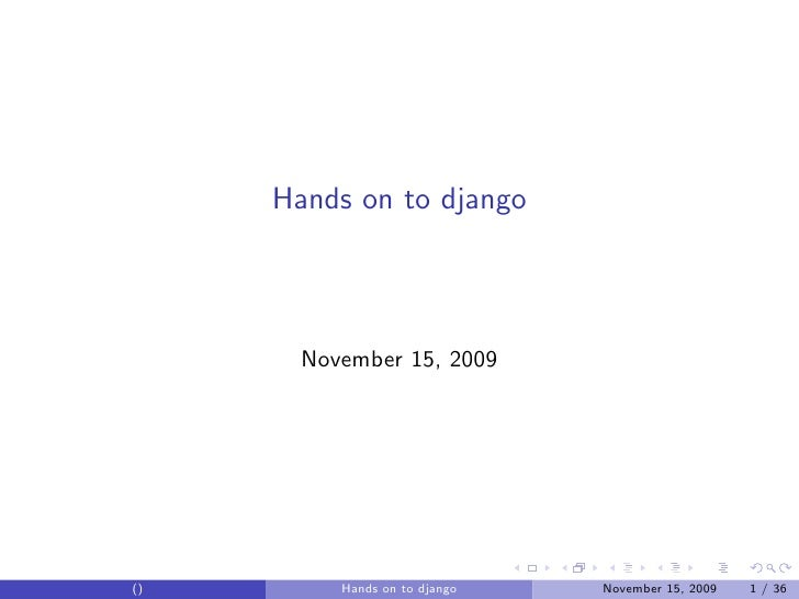a hands on guide to django