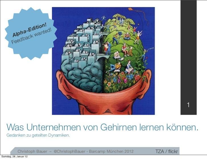 Was Unternehmen von Gehirnen lernen können. (Alpha-Version)