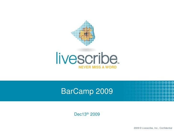 BarCamp 2009<br />Dec13th 2009<br />