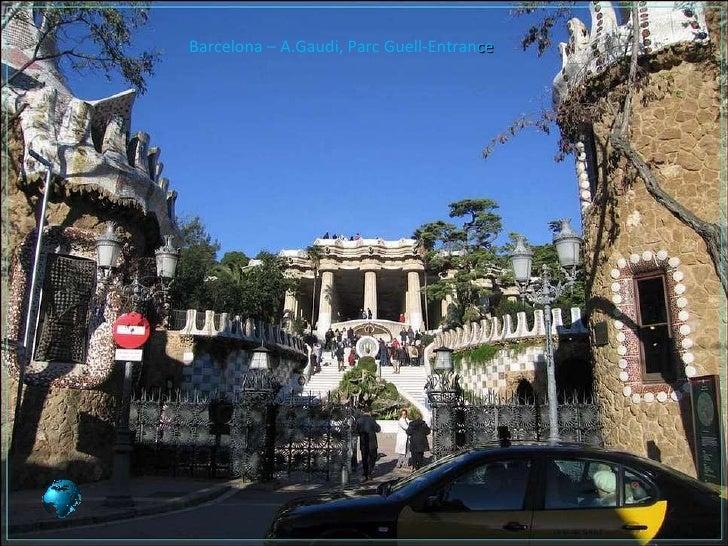 Barcelona – A.Gaudi, Parc Guell-Entran ce