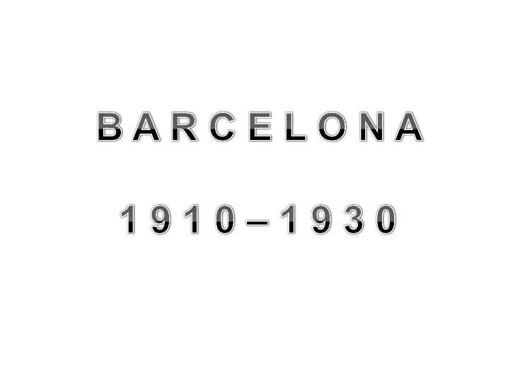 Fotos Històriques de Barcelona 1910-1930